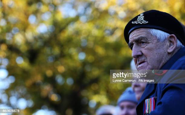 Veterans during the Remembrance Sunday service in York