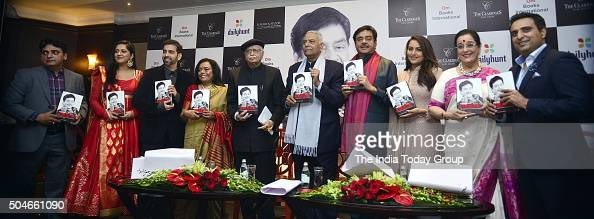 BJP veterans LK Advani and Yashwant Sinha releasing the party MP Shatrughan Sinha's book Anything But Khamosh at a function in New Delhi