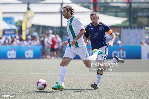 Veterans's Allan Mcmanus runs with the ball during their Masters Tournament match part of the HKFC Citi Soccer Sevens 2017 on 27 May 2017 at the Hong...