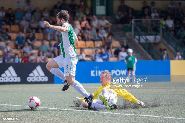 Veterans's Paul Mcgunnigle runs the ball during their Masters Tournament match part of the HKFC Citi Soccer Sevens 2017 on 27 May 2017 at the Hong...