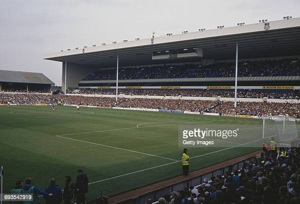 A vew of the refurbished East Stand at Tottenham Hotspur's White Hart Lane ground London during a division one match between Spurs and Aston Villa...