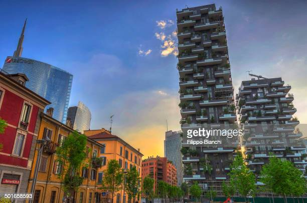 CONTENT] Via de Castillia an old distric in Milan here one can see the modern Torre Unicredit the tallest italian skycraper and the Bosco Verticale a...