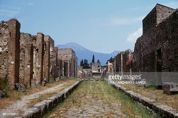 Via di Mercurio Pompeii Campania Italy Roman civilisation 1st century AD