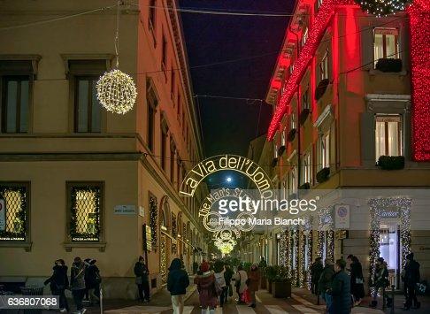 Via Montenapoleone in Christmas Time