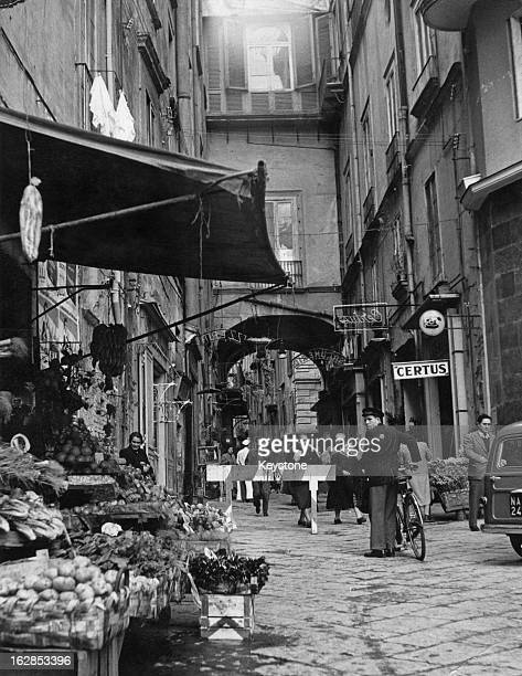Via Ponte di Tappia in the old part of Naples Italy March 1955