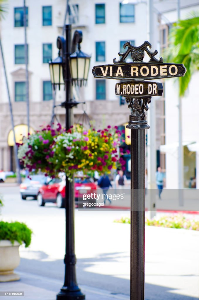 'Via Rodeo sign in Beverly Hills, CA'