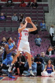 Viacheslav Kravtsov grabs the ball in midair during a game on October 16 2012 at The Palace of Auburn Hills in Auburn Hills Michigan NOTE TO USER...