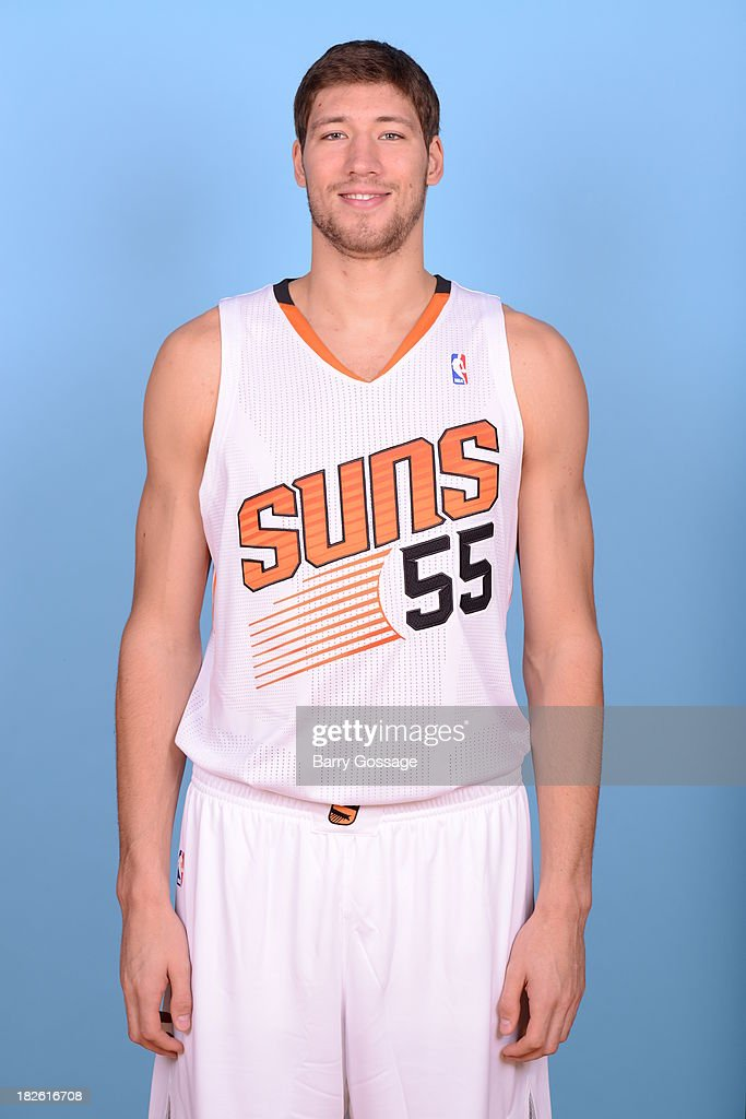 Viacheslav Kravtsov of the Phoenix Suns poses for a portrait on Media Day on September 30 2013 at US Airways Center in Phoenix Arizona NOTE TO USER...