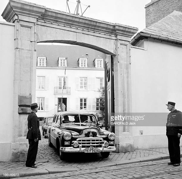 Viacheslav Molotov In Cherbourg In 1955 France en Juin 1955 le ministre des affaires étrangères soviétiques Viatcheslav MOLOTOV en visite à Cherbourg...