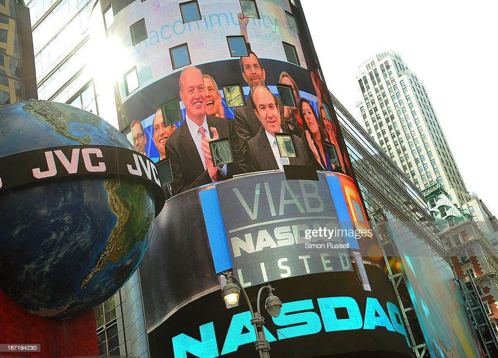 Viacom President & CEO Philippe Dauman rings the NASDAQ Stock Market opening bell in honor of Viacommunity Day at the NASDAQ MarketSite on April 22, 2013 in New York City.