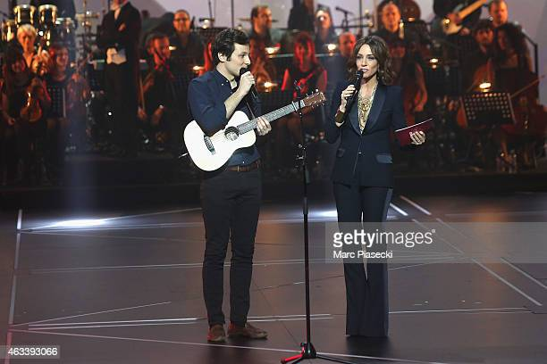 Vianney Bureau and Virginie Guilhaume attend the 30th 'Victoires de la Musique' French Music Awards Ceremony at le Zenith on February 13 2015 in...