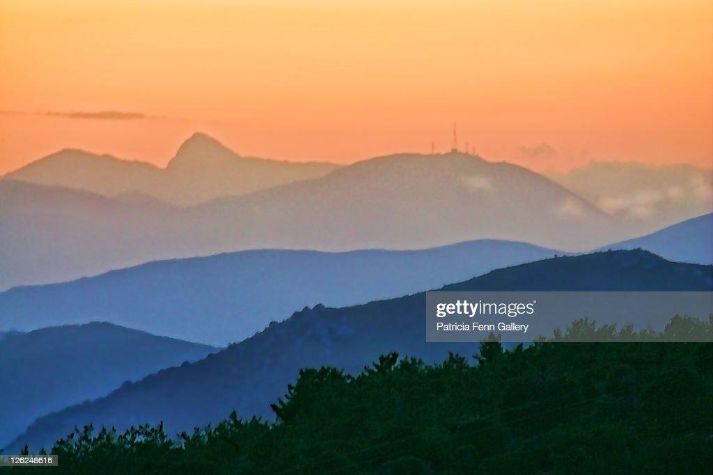 Viannos sunset : Stock Photo