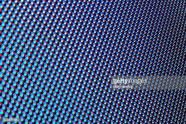 Vibrant colored dot pattern, full frame
