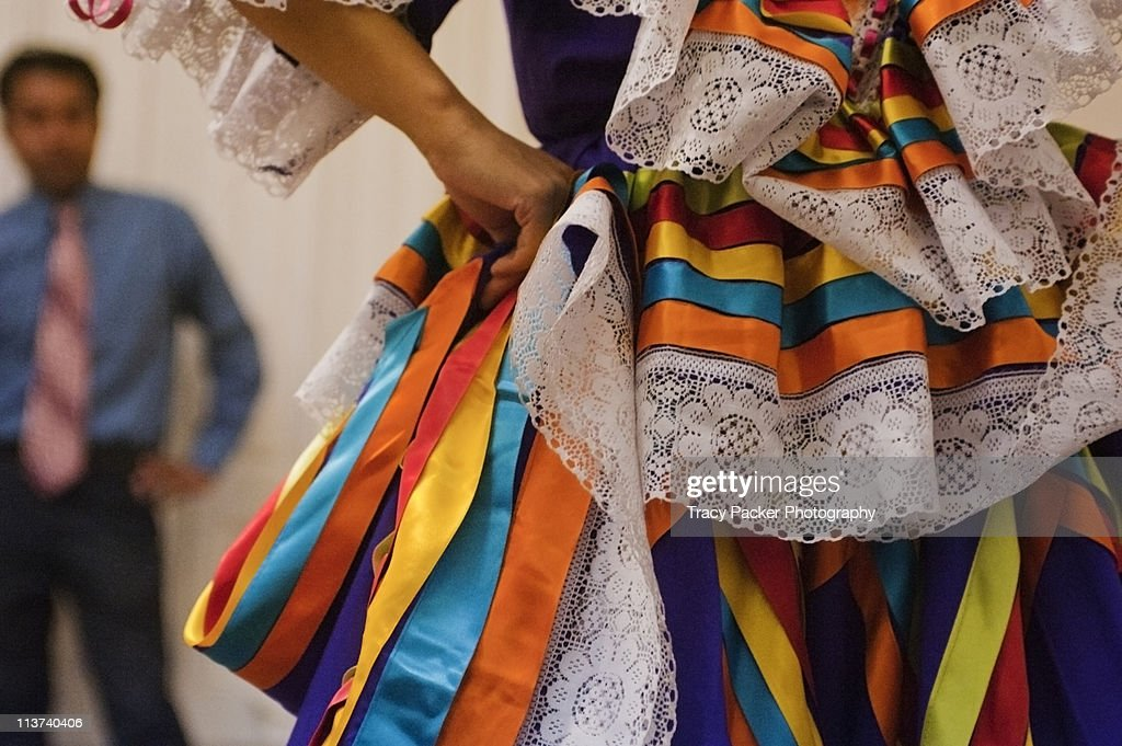 Vibrant colours & textures of Mexican dance.