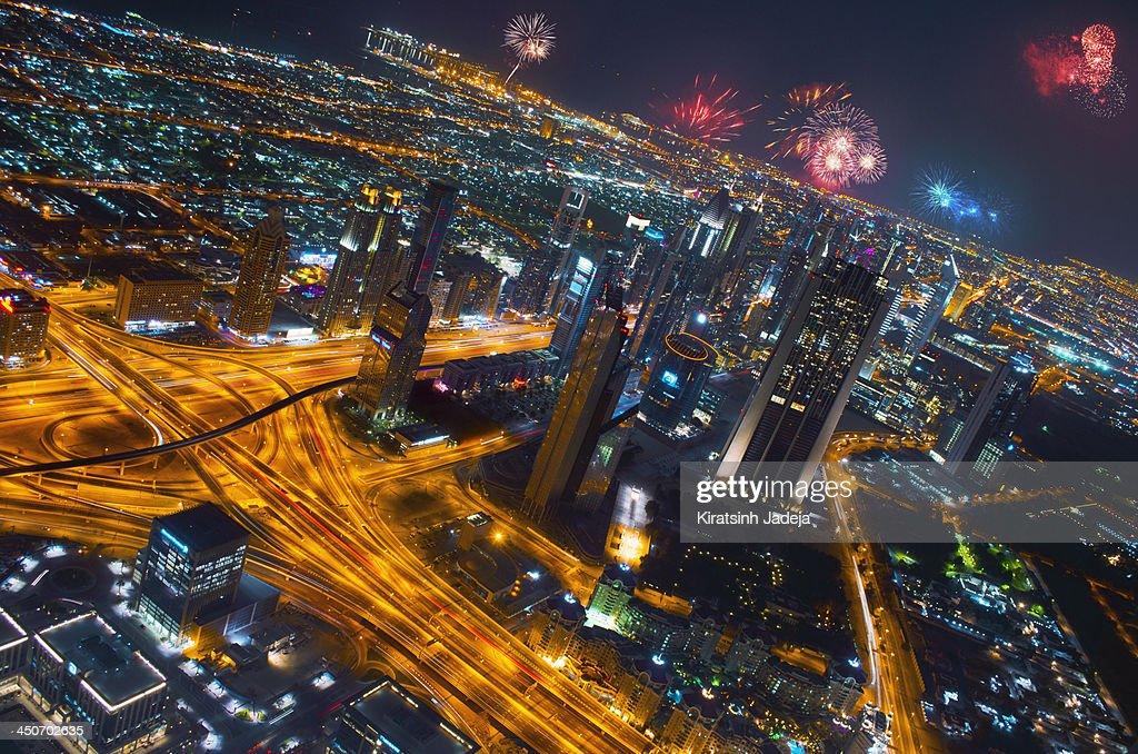 Vibrant Dubai Celebrating The New Year : Stock Photo