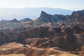 Vibrant panoramic summer view of Zabriskie point badlands in Death Valley National Park, Death Valley, Inyo County, California, USA'n