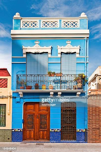Vibrant villa colorful Art Nouveau house Valencia Spain