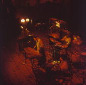 Vibraphonist Roy Ayers performs on stage with his group Ubiquity circa 1975