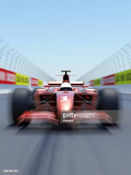 VIbrating view of a formula one racing car on a track