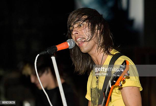 Vic Fuentes of Pierce The Veil performs at the Emerson Theater on April 11 2009 in Indianapolis Indiana
