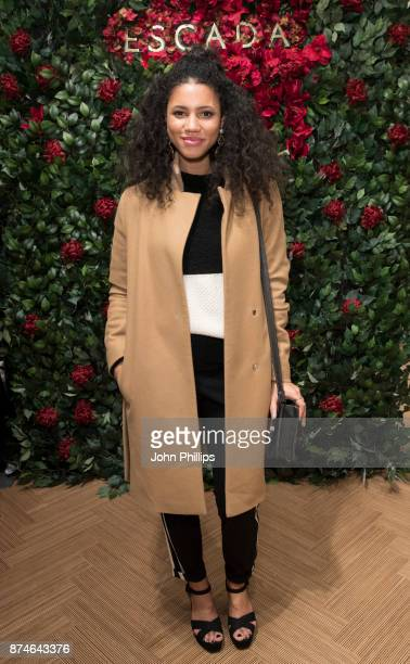 Vic Hope attends New Flagship Store Opening of Luxury Fashion Brand ESCADA on Sloane Street on November 15 2017 in London England