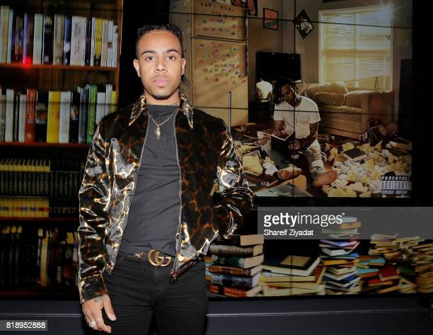 Vic Mensa attends Vic Mensa Listening Party at YouTube Space on July 18 2017 in New York City