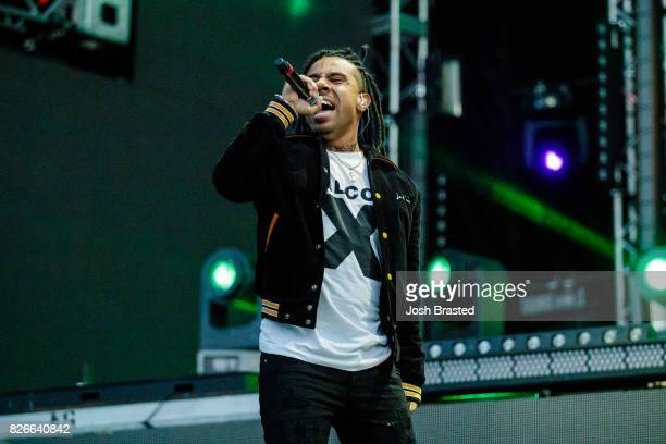 Vic Mensa performs at Lollapalooza 2017 at Grant Park on August 4 2017 in Chicago Illinois