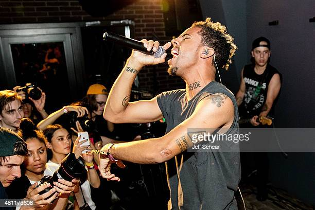 Vic Mensa performs at Pitchfork afterparty at Virgin Hotels Chicago with a performance by Vic Mensa at The Virgin Hotel on July 17 2015 in Chicago...