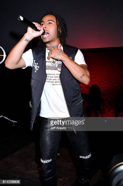 Vic Mensa performs at Vic Mensa The Autobiography Showcase at Mack Sennett Studios on July 13 2017 in Los Angeles California