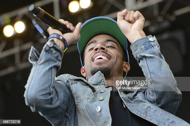 Vic Mensa performs during the Austin City Limits Music Festival at Zilker Park on October 5 2014 in Austin Texas