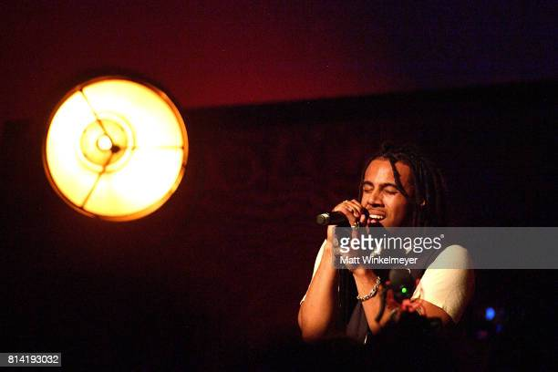 Vic Mensa performs onstage after he is indroduced by JayZ at Mack Sennett Studios on July 13 2017 in Los Angeles California
