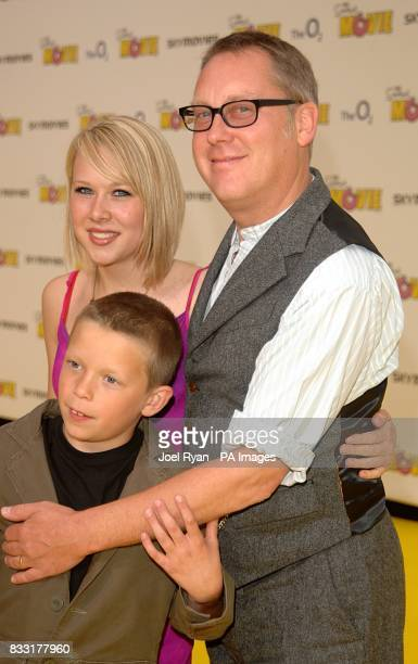Vic Reeves and family arrive for the UK Premiere of The Simpsons Movie at the Vue Cinema The O2 Peninsula Square London