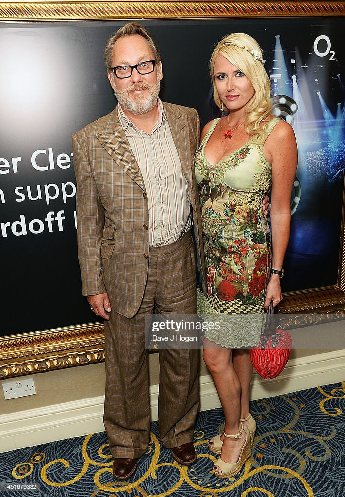 Vic Reeves and Nancy Sorrell attend the Nordoff Robbins 02 Silver Clef awards at London Hilton on July 4, 2014 in London, England.