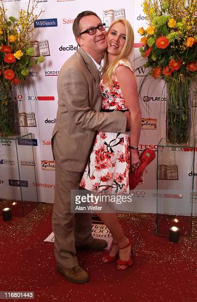 Vic Reeves and Nancy Sorrell during 2007 Galaxy British Book Awards Red Carpet at Grosvenor House in London Great Britain
