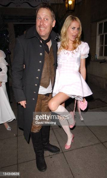 Vic Reeves and Nancy Sorrell during Matt Lucas and Kevin McGee Reception London Photocall at Banqueting House Whitehall Place in London Great Britain