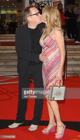 Vic Reeves and Nancy Sorrell during The Brit Awards 2006 with MasterCard Outside Arrivals at Earls Court in London Great Britain