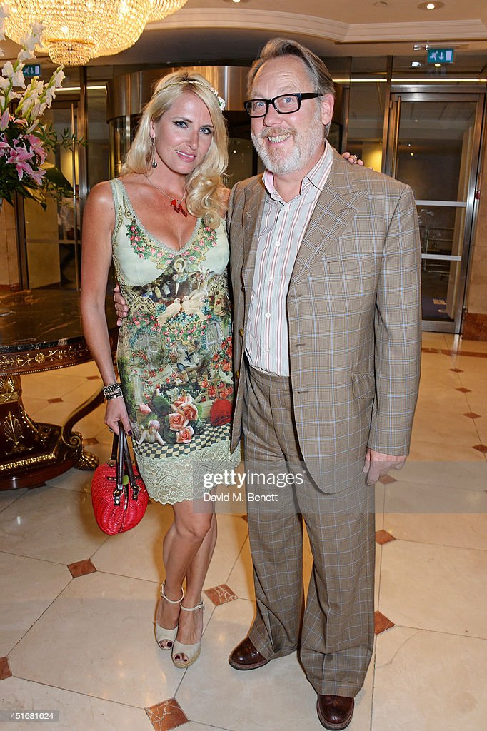 Vic Reeves (R) and wife Nancy Sorrell attend the Nordoff Robbins 02 Silver Clef awards at the London Hilton on July 4, 2014 in London, England.