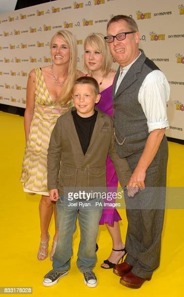 Vic Reeves Nancy Sorrell and family arrive for the UK Premiere of The Simpsons Movie at the Vue Cinema The O2 Peninsula Square London