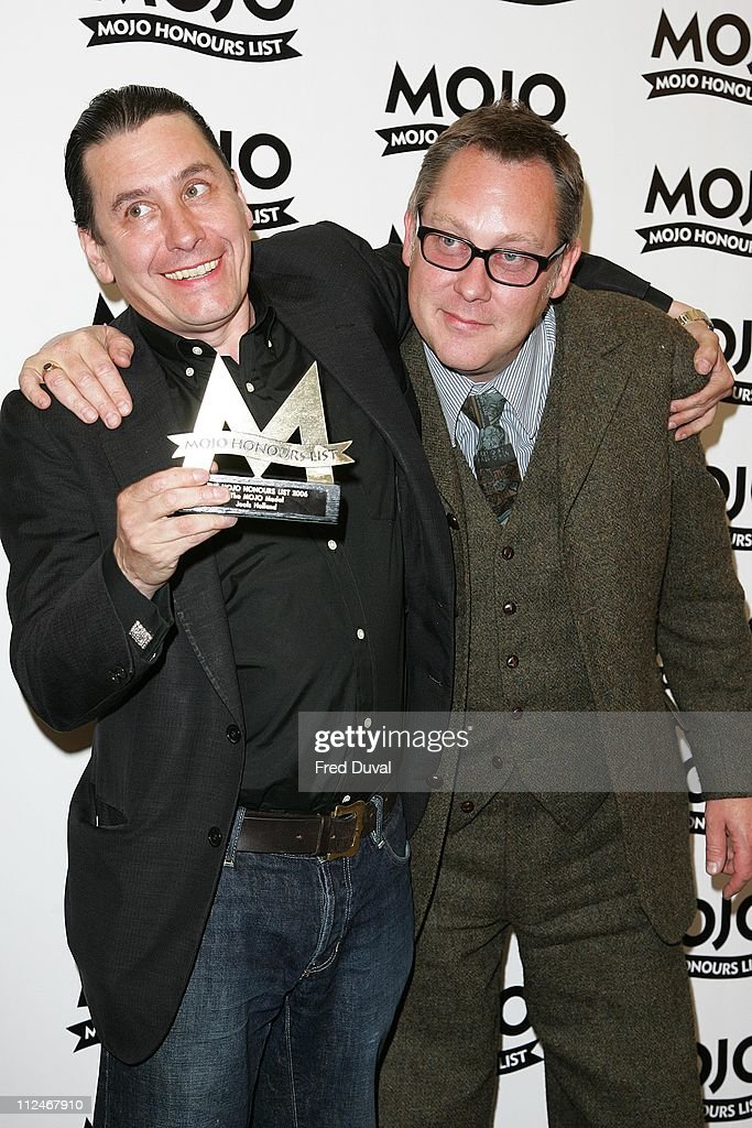 Vic Reeves with Jools Holland, who won the MOJO Medal