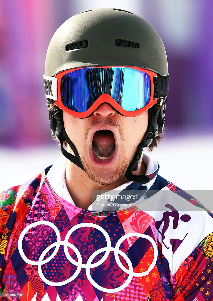 <a gi-track='captionPersonalityLinkClicked' href=/galleries/search?phrase=Vic+Wild&family=editorial&specificpeople=6691731 ng-click='$event.stopPropagation()'>Vic Wild</a> of Russia celebrates in the Snowboard Men's Parallel Slalom Semifinals on day 15 of the 2014 Winter Olympics at Rosa Khutor Extreme Park on February 22, 2014 in Sochi, Russia.