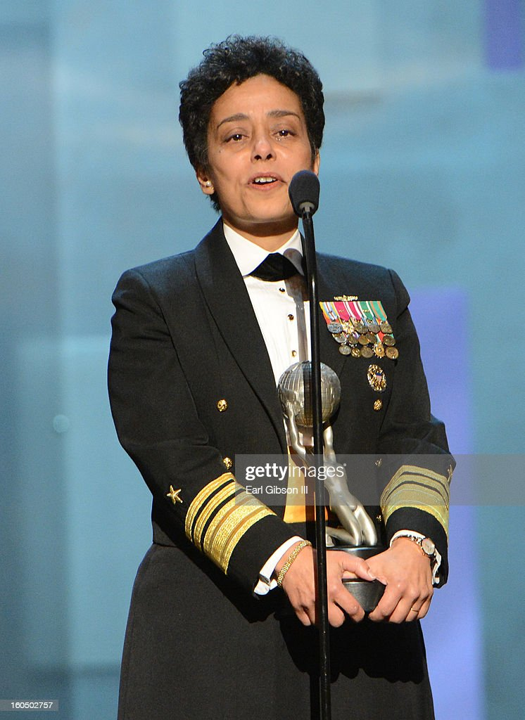 Vice Admiral Michelle Howard accepts the Chairman's Award onstage during the 44th NAACP Image Awards at The Shrine Auditorium on February 1, 2013 in Los Angeles, California.