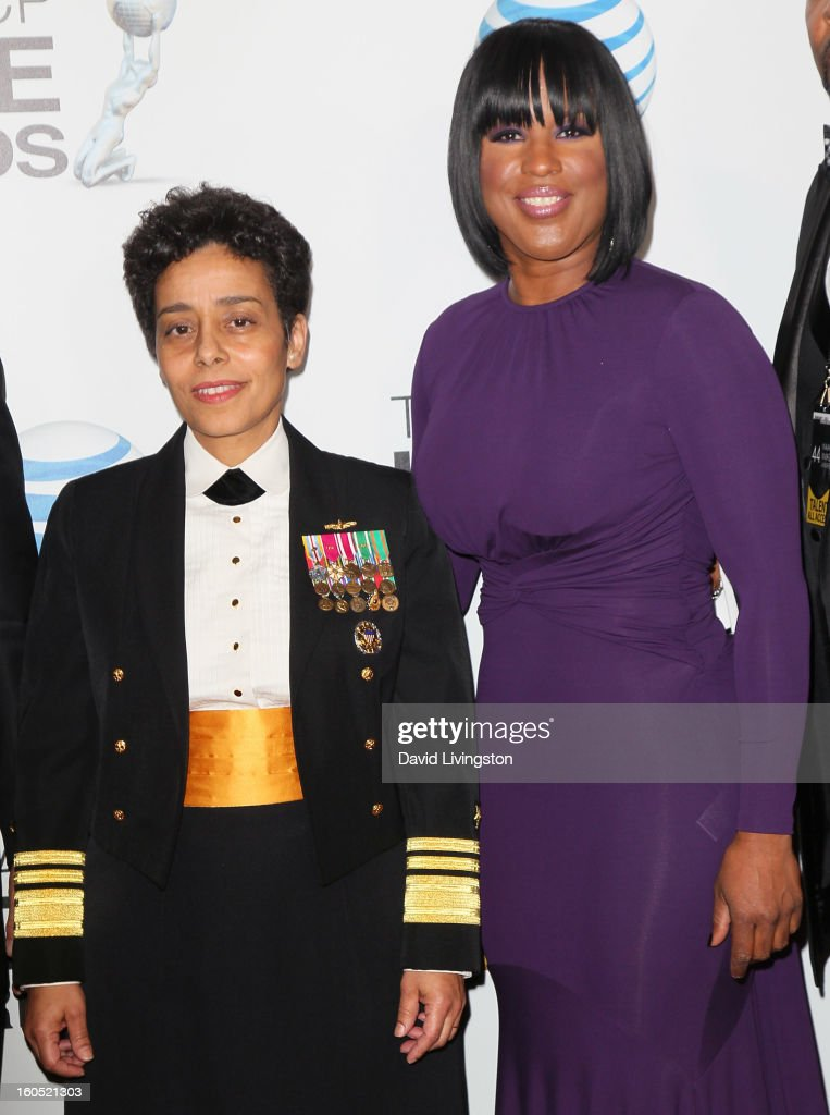Vice Admiral Michelle Howard (L) and NAACP Chairwoman Roslyn Brock attend the 44th NAACP Image Awards at the Shrine Auditorium on February 1, 2013 in Los Angeles, California.
