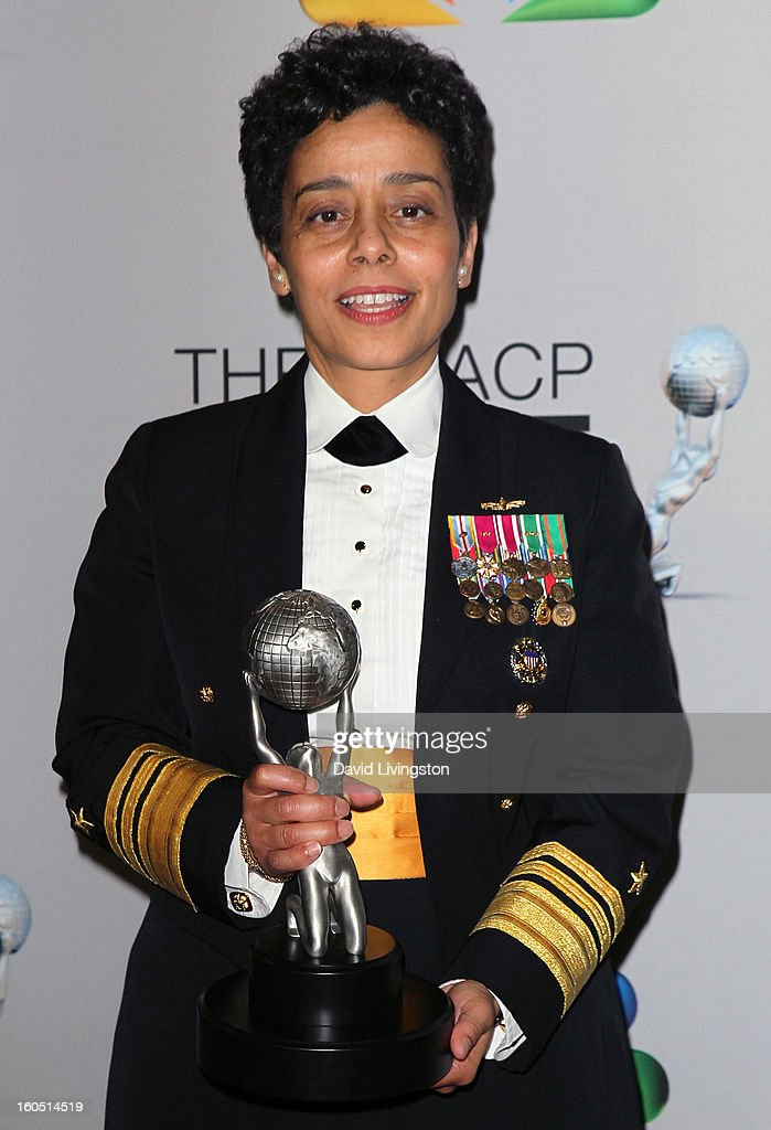 Vice Admiral Michelle Howard poses in the press room at the 44th NAACP Image Awards at the Shrine Auditorium on February 1, 2013 in Los Angeles, California.