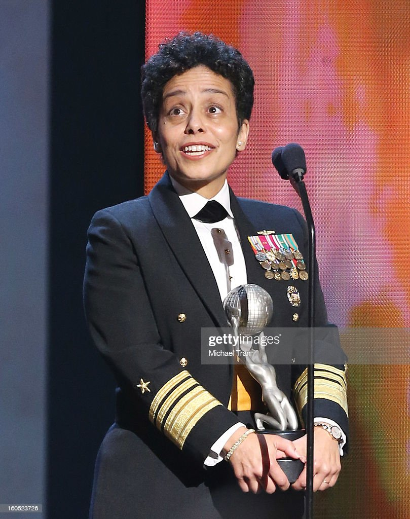 Vice Admiral Michelle Howard speaks onstage at the 44th NAACP Image Awards - show held at The Shrine Auditorium on February 1, 2013 in Los Angeles, California.