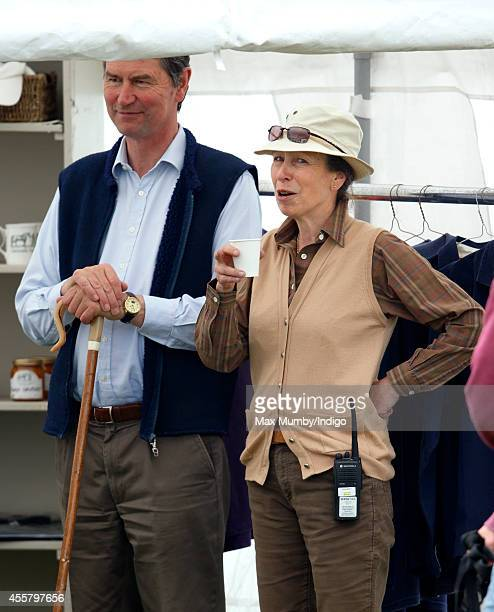 Vice Admiral Sir Tim Laurence and Princess Anne Princess Royal attend the Whatley Manor International Horse Trials at Gatcombe Park Minchinhampton on...