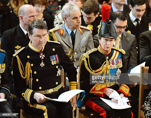 Vice Admiral Sir Timothy Laurence and Princess Anne Princess Royal attend a Service of Commemoration for troops who were stationed in Afghanistan at...