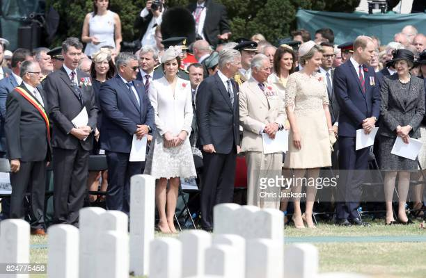 Vice Admiral Sir Timothy Laurence Belgian Minister of Defence Steven Vandeput Catherine Duchess of Cambridge King Philippe of Belgium Prince Charles...