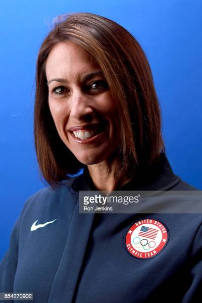 Vice Chair Director of Athlete Relations Janet Evans poses for a portrait during the Team USA Media Summit ahead of the PyeongChang 2018 Olympic...