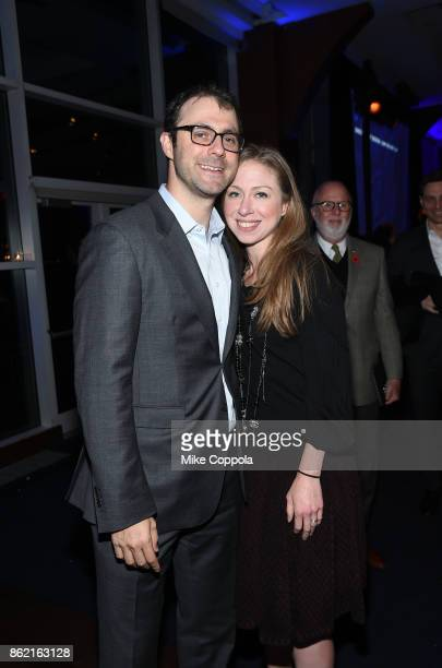 Vice chair of The Clinton Foundation Chelsea Clinton and Marc Mezvinsky attend the Headstrong Gala 2017 at Pier 60 Chelsea Piers on October 16 2017...