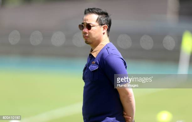 Vice Chairman Aiyawatt Srivaddhanaprabha of Leicester City during the training session in Hong Kong ahead of the Premier League Asia Trophy final...